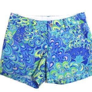 Lilly Pulitzer The Callahan Shorts Fish Swirl 0 XS